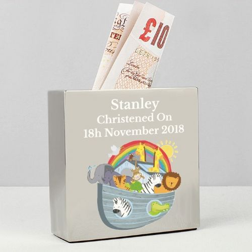Noah's Ark Square Money Box